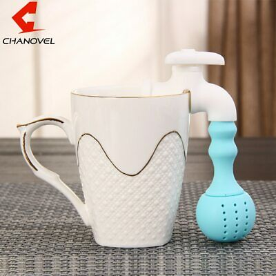 Silicone Faucet Tea Infuser Novelty Cute Strainer Loose Leaf Herbal Spice Filter