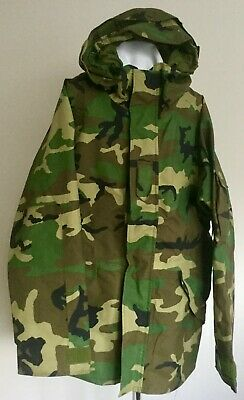 "US Army Goretex Parka Jacket - Parka Cold Weather Camo - Large Long 41 - 45"" VGC"
