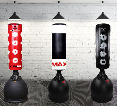 5.5ft Boxing Free Standing Punch Bag Heavy Duty Kick Stand MMA Workout Training