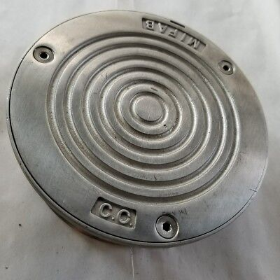 """MIFAB 5"""" stainless steel Cleanout clean out threaded cover cap 4.5"""" threads"""