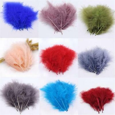 100 pcs Feathers Marabou 2-4 Inch Sewing Craft Wedding Party  NEW