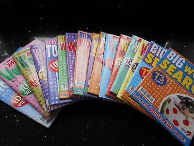 Puzzle Books - Wordsearch Magazines - Big,Just So,Just & Bumper x 16 -  FREE P&P