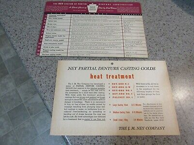 DENTAL GOLD! - Vintage, 40s, Ney Company, Denture Construction Chart, Pre-Owned