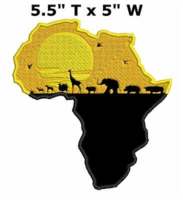 Africa Wakanda Series Embroidered Patch Iron-On Souvenir Explore National Park