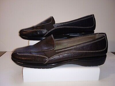 45dd0e42596 A2 BY AEROSOLES Stitch n Turn Tricycle Brown Loafers Size 6 M ...