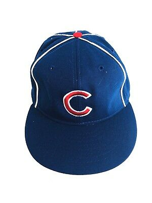 5d11f8bd3da8c VTG 90s American Needle MLB Chicago Cubs Blue Hat Size 7 1 2 baseball cap