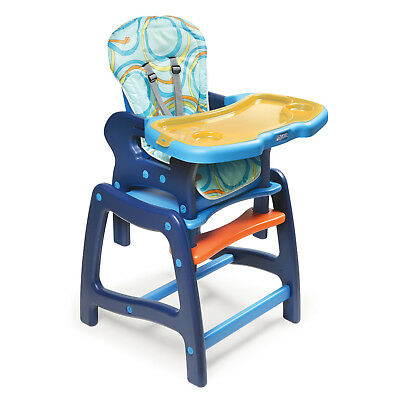 Baby Multi-Stage High Chair With Removable Tray / Play Table In Blue