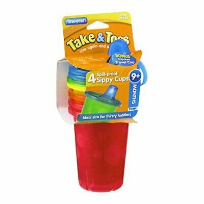 The First Years Take & Toss Spill-Proof Sippy Cups 9+ Months 4 CT (Pack of 16)