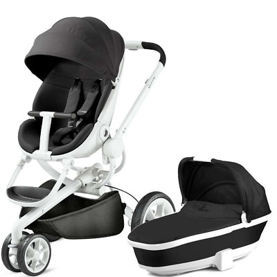 Quinny Moodd and Carrycot - Black Irony