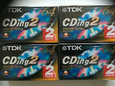 Tdk Cding 2 64 Chrome 42 Pieces Factory Sealed Audio Cassettes
