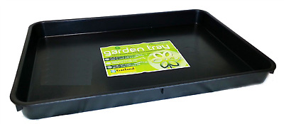 GARLAND STANDARD BLACK GARDEN GREENHOUSE SEED TRAY WITH HOLES 37 x 22 x 6cm