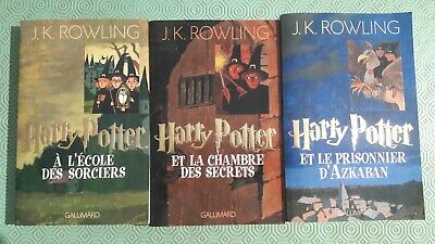 Harry potter tome 1/2/3