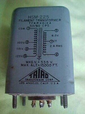 Triad HSM 225 Power Transformer Vintage Used tested  works nicely
