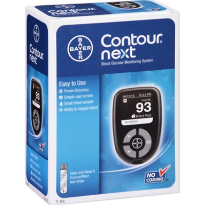 Bayer Contour Next Diabetic Blood Glucose Meter Monitoring System