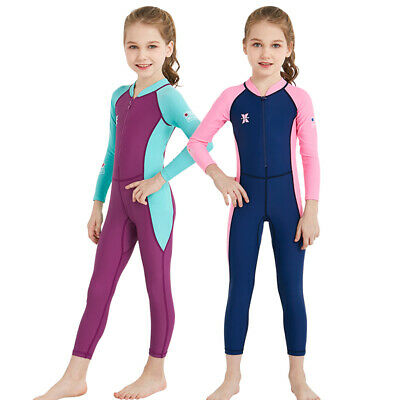 469964083c Kids Wetsuit Long Sleeves One-Piece Diving Suit Children Rash Guard Swimwear  NEW