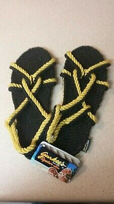 28a118b7e93e GURKEES ROPE SANDALS Signature Edition - Barbados Black and Gold W7-M6 -   9.99