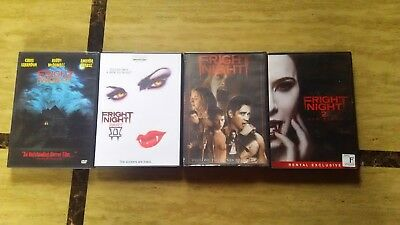 Fright Night (4) DVD Movie Collection Set Lot (1999 - 2013) ALL WORK GREAT!!!!!!