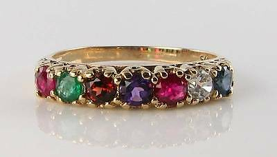 Classic 9K 9Ct Yellow Gold Regards Eternity Art Deco Ins Ring Free Resize