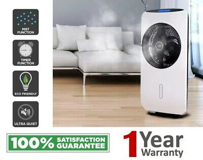 Kogan Mist Fan Portable Misting Fan Pedestal Remote Water Cool Mist Timer 80cm