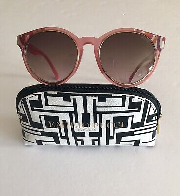006775eb9e EMILIO PUCCI Sunglasses Women s Pink Gradient EP28 55mm New 100% Authentic