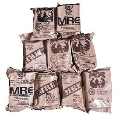 US MRE Menü II Vegetable Crum  MEAL READY TO EAT ARMY FOOD BW EPA NOTRATION MENÜ