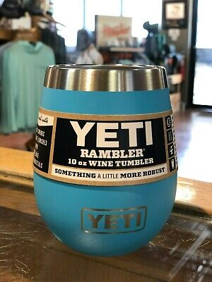 0742230b2df Yeti Authorized Dealer Rambler 10 oz Insulated Wine Tumbler Reef Blue NEW