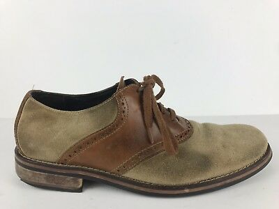 48ab34d0832 Cole Haan C10296 Brown Saddle Oxford Casual Dress Shoes Leather Men s 10 M