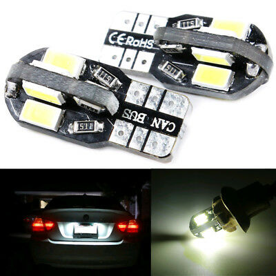 2x Canbus T10 194 168 W5W 5730 SMD 8-LED Car SUV Side Wedge Light Lamp Bulbs