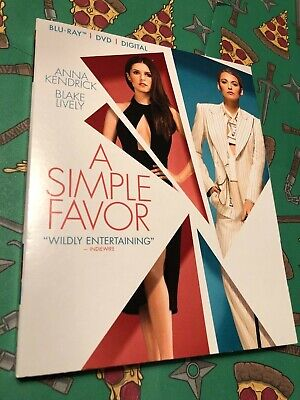 A Simple Favor (Blu-Ray + DVD + Digital, 2018) *Brand NEW w/ Slipcover*