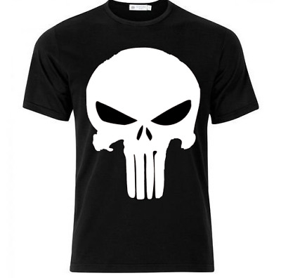 The punisher t-shirt  marvel screen play gym skull grand dad men/women sport top