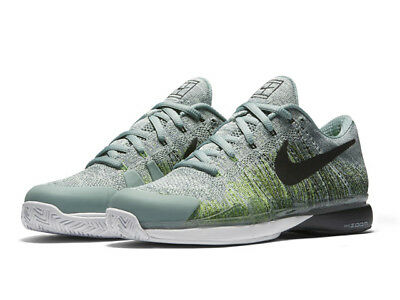 Nike Zoom Flyknit trainers - cannon black & green UK sz 14 (Eu 49.5)