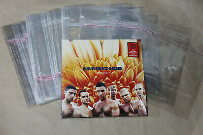 100 PCS Vinyl 12 lp protective bags with glue flap. PLASTIC BAG OUTER SLEEVES