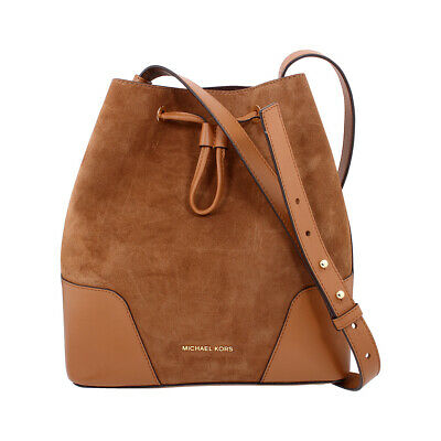 0ea6204001e156 Michael Kors Cary Ladies Medium Suede & Leather Bucket Bag 30F8G0CM2S248