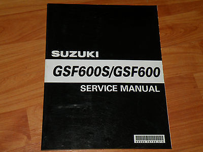 GSF600 S Suzuki Service Manual 2000 model workshop manual werkstatthandbuch