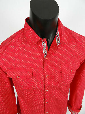 Mens Platini Casual Slim Fit Shirt Burgundy with Floral Patterns Button Front