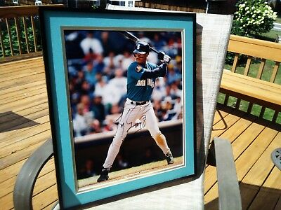 b06dae1c7b Ken Griffey Jr Seattle Mariners Signed Autographed 16 x 20 Photo Framed NO  CERT
