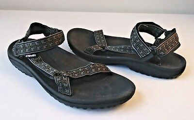 c7c312b27668 Men s Teva 6461 Hurricane II River Water Sport Sandals Sz 13M Black Gray EUC