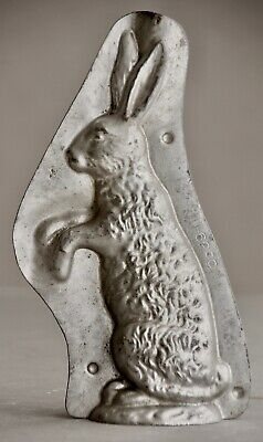 alte Osterhasen Schokoladenform um 1900, antique chocolate bunny molds