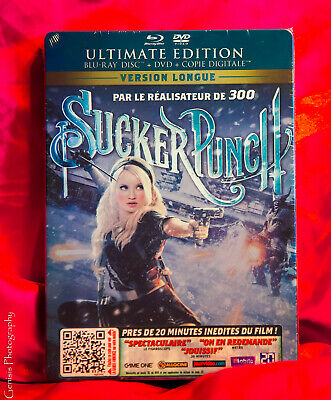 Sucker Punch Limited Edition Steelbook Blu Ray Import NEW