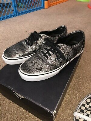 1326026a596afb Vans Syndicate Jason Dill Snakeskin Authentic Pro sz.9 Leather Vault Black