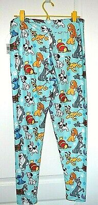 Disney Parks Dog Leggings Pluto Nana Stitch Dalmatians Large New with the tags
