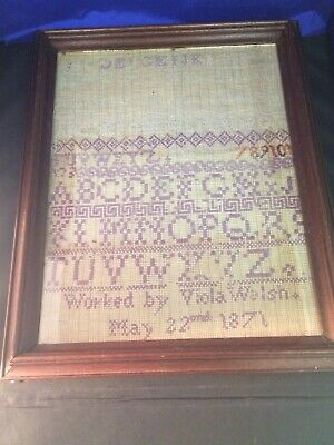 Antique ABC Alphabet Sampler May 1871