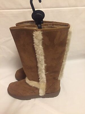 48c918b9a1bacb Size 3 Womens Ladies Girls Ella Wide Calf Fur Lined Warm Winter Boots Size 3