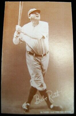 BABE RUTH #3 New York Yankees 1980 Hall Of Fame An Exhibit Card Sepia A9772