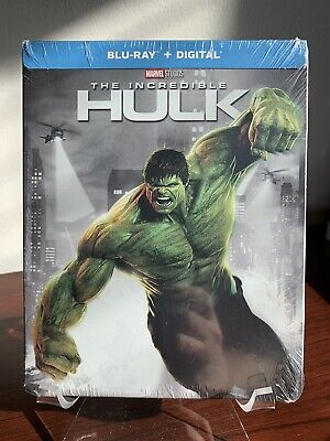 The Incredible Hulk Steelbook (Blu-ray/Digital Copy,  2018) Factory Sealed