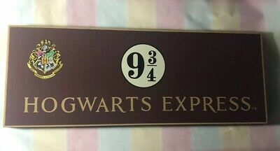 00a75fdc831 Universal Studios Harry Potter Hogwarts Express Platform 9 3 4 Wood Sign