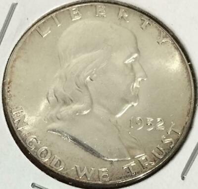 1952 US Franklin SILVER Dollar! Choice Uncirculated! Old US Coin!