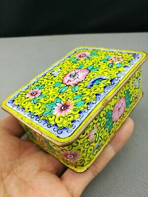 impressive 19th antique  Old Chinese Cloisonne bronze box