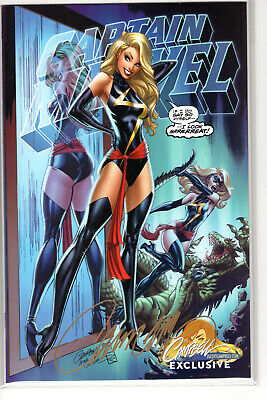 Captain Marvel #1 Cover B Ms. Marvel *signed* J. Scott Campbell Variant 2019