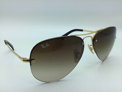 ad7c518e538 Ray Ban Highstreet Metal Gold RB3449 001 13 Gradient Sunglasses Pre-owned